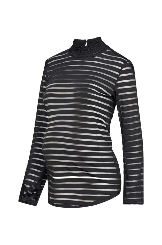 Supermom Ls Striped Mesh Top -äitiyspusero