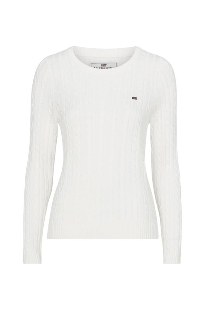Lexington Felizia Cable Sweater -neulepusero