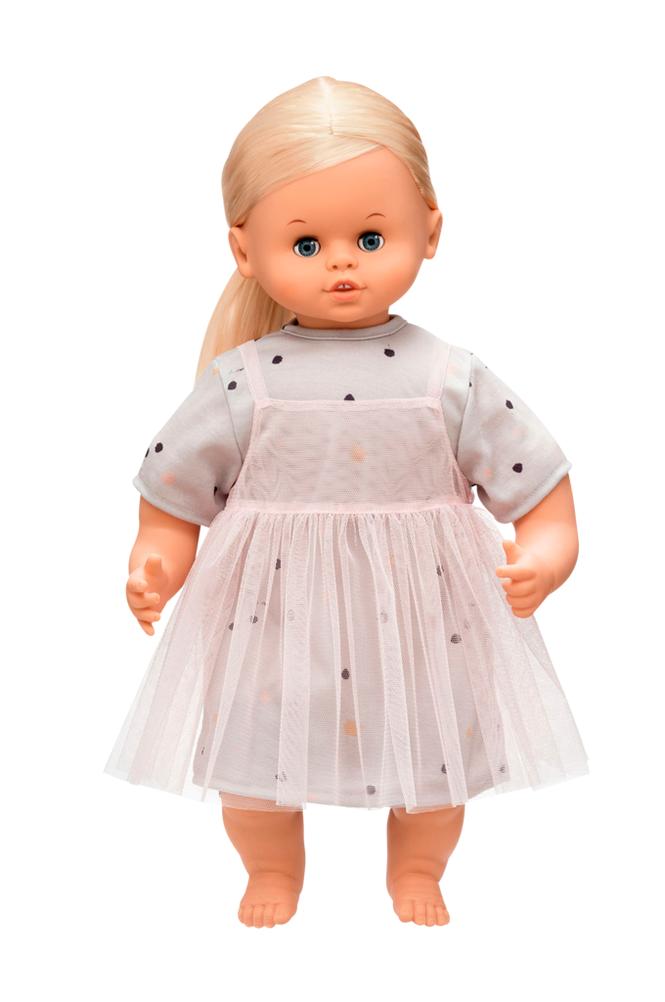 Skrållan Puhuva nukke, vaalea 45 cm