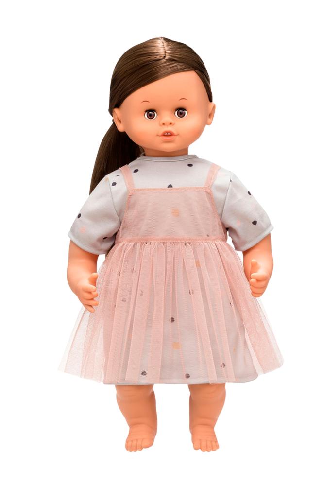 Skrållan Puhuva nukke, tummatukkainen 45 cm
