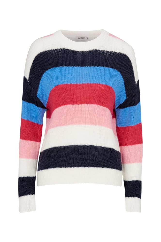Soaked in Luxury Frida Striped Pullover LS -neulepusero