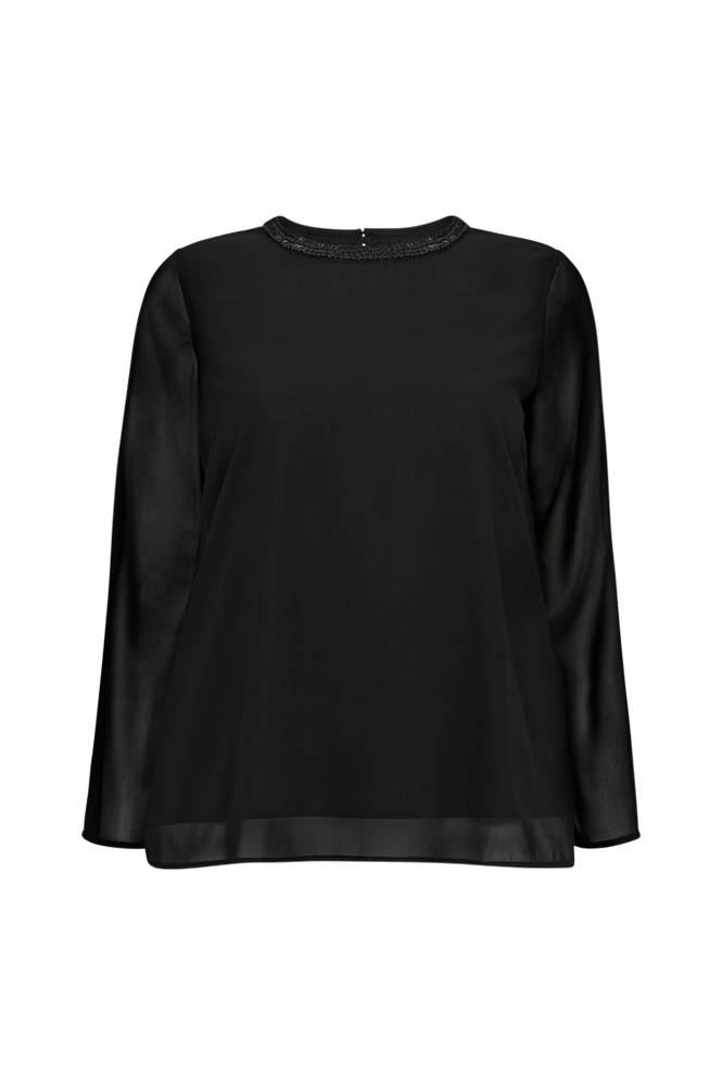 Only Carmakoma CarCad L/S Sleeve Top -pusero