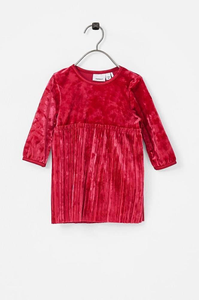 Name it NbfSelina LS Dress veluurimekko