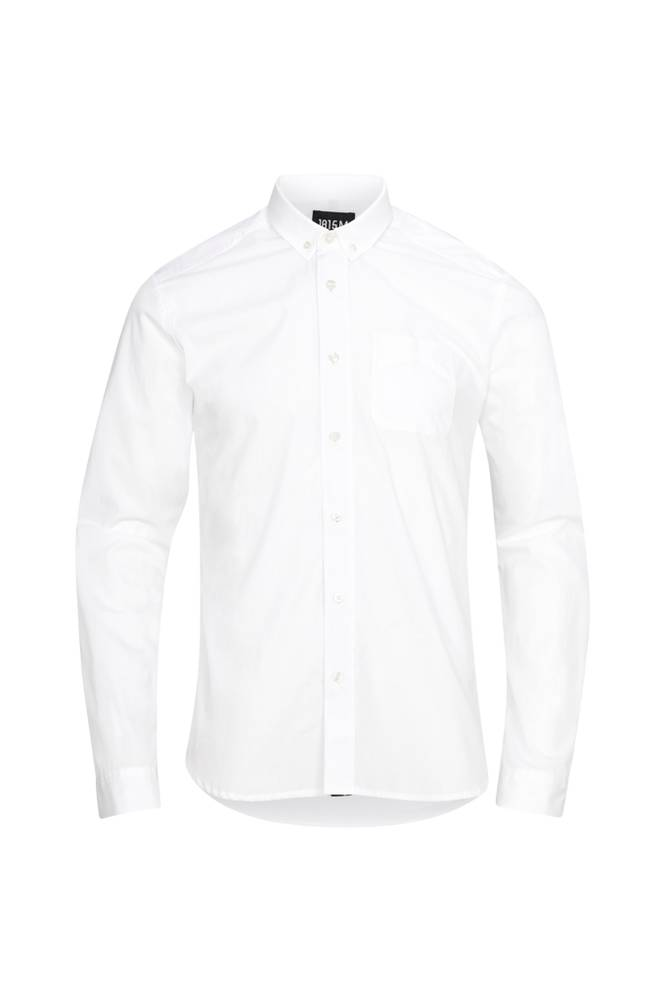 Scotch & Soda Ams Blauw Premium Dress Shirt -kauluspaita, slim fit