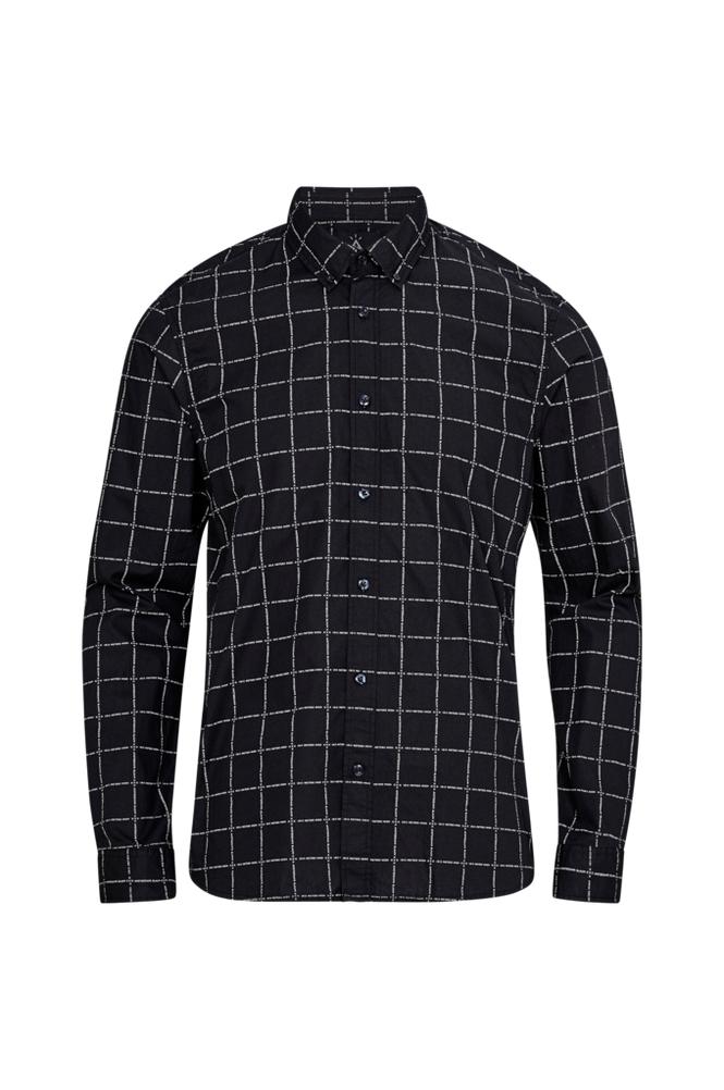 Scotch & Soda Ams Blauw Allover Print Shirt -kauluspaita