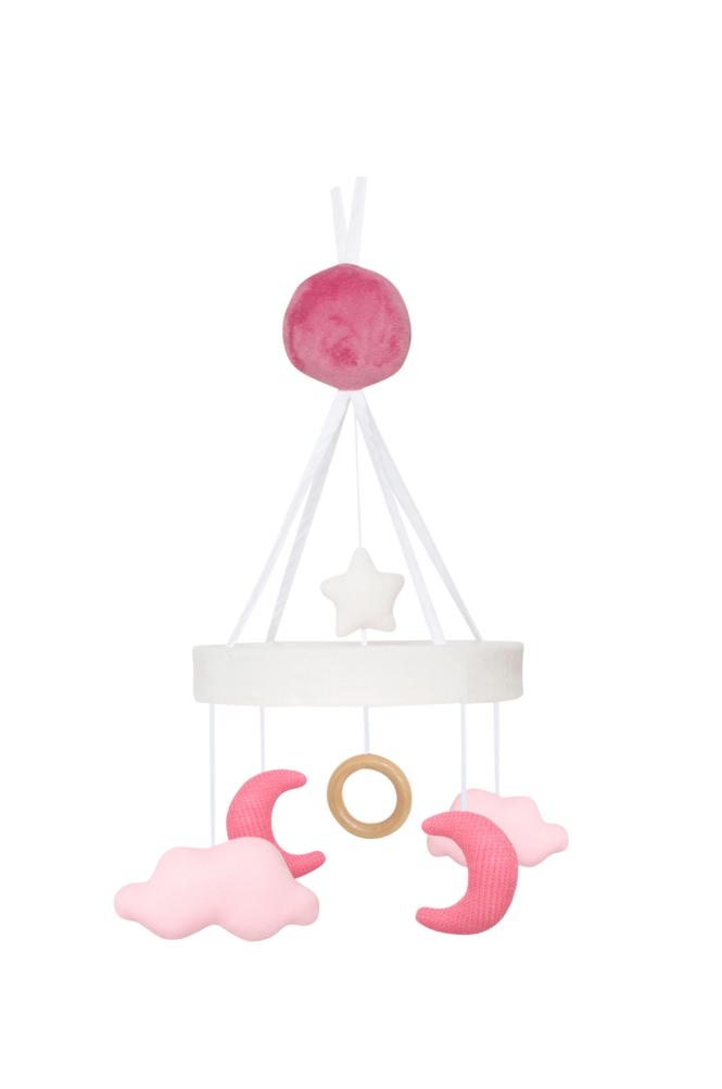 JaBaDaBaDo Musiikkimobile pilvi/kuu roosa