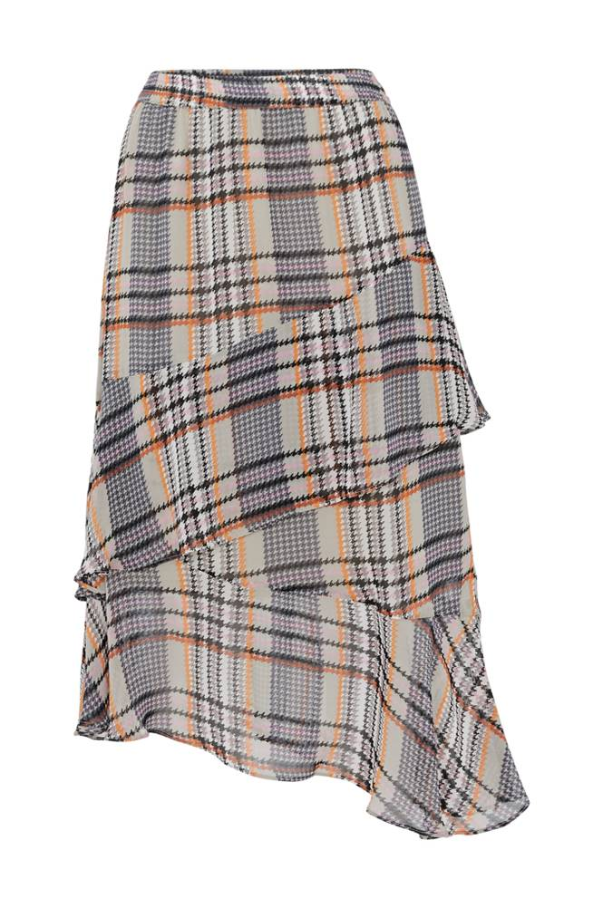 Soaked in Luxury SX Celest Checked Skirt -hame