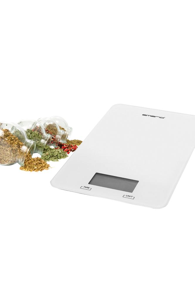 Emerio Keittiövaaka Valkoinen kapasiteetti jopa 5 kg