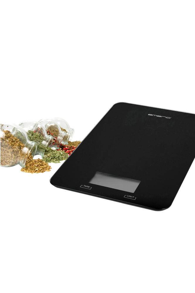 Emerio Keittiövaaka Musta kapasiteetti jopa 5 kg