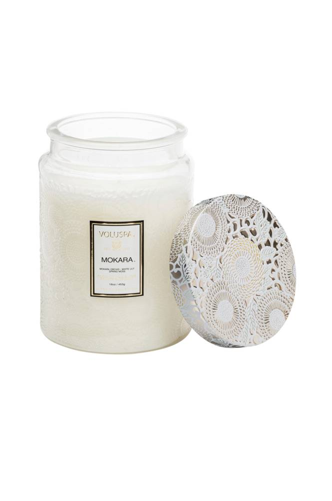 Voluspa Mokara - Large Glass Jar Candle 100 h