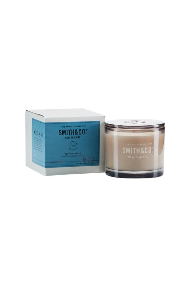 Smith & Co. Vanilla Sugar & Lime Candle 50 h