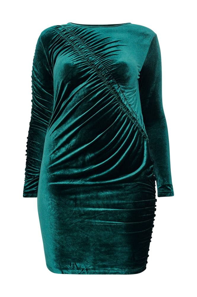 Only Carmakoma CarDelta LS Bodycon Dress -samettimekko