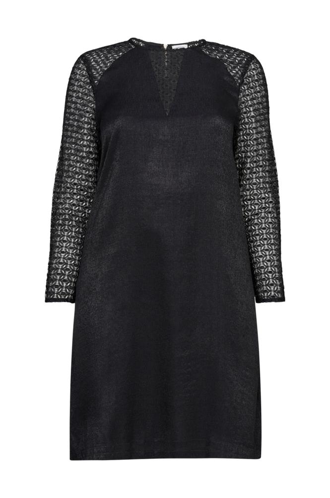 La Redoute Suora puolipitkä mekko, jossa pitkät pitsihihat