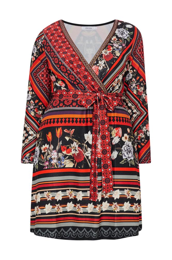 Paprika Ethnic Print Dress -mekko