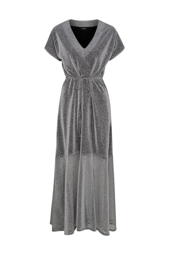 RESIDUS Moa Silver Dress -maksimekko