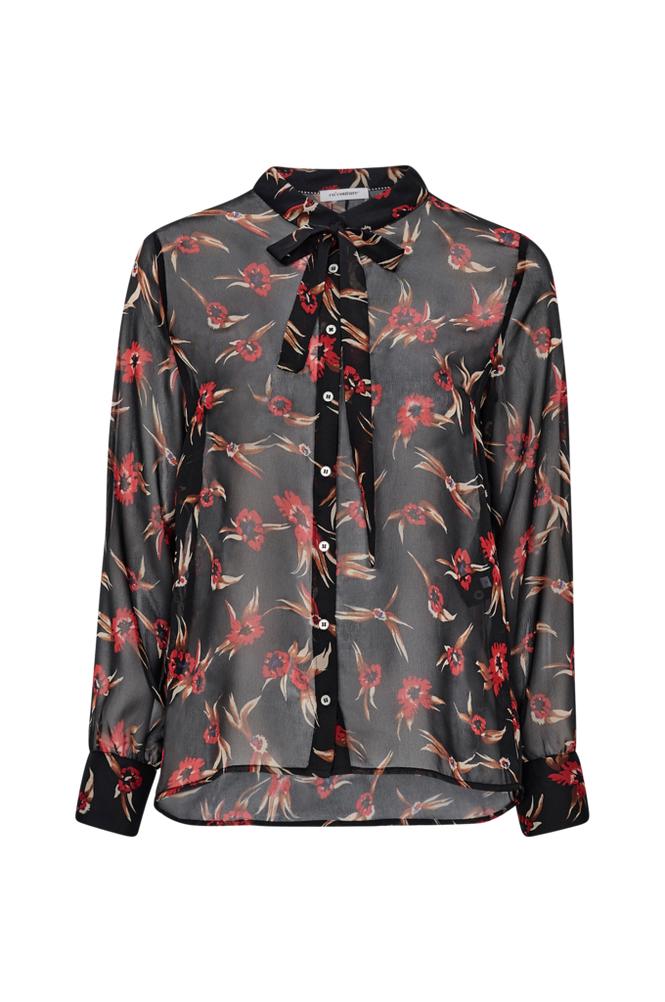 co'couture Ovida Tie Shirt -solmimisnauhapaita