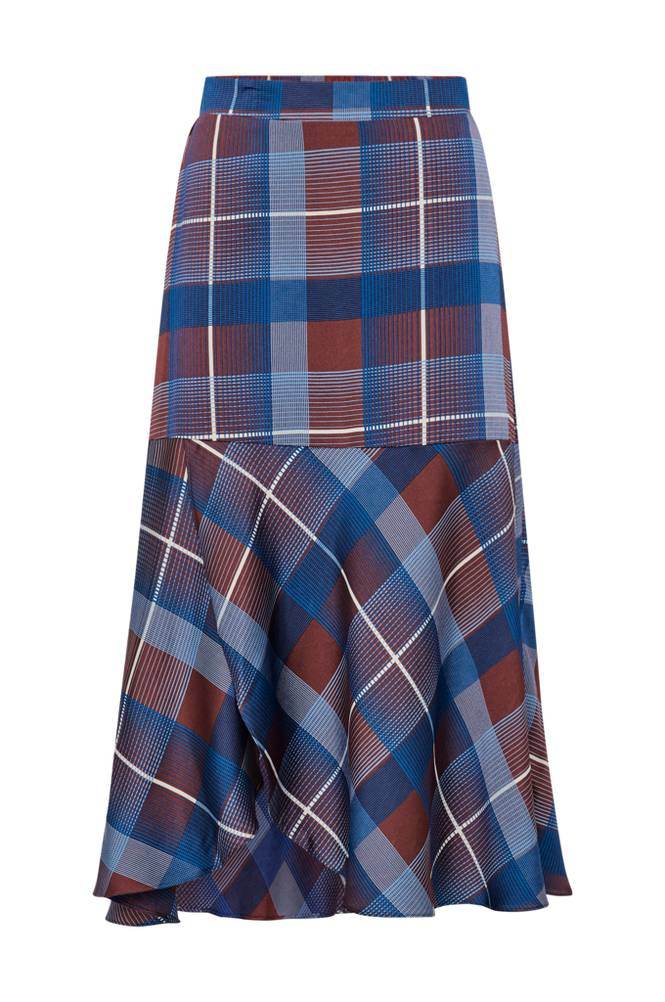 co'couture Modern Check Skirt hame