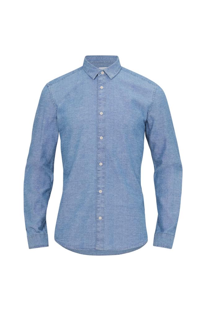 ONLY & SONS OnsTed LS Slub Chambray Shirt -kauluspaita