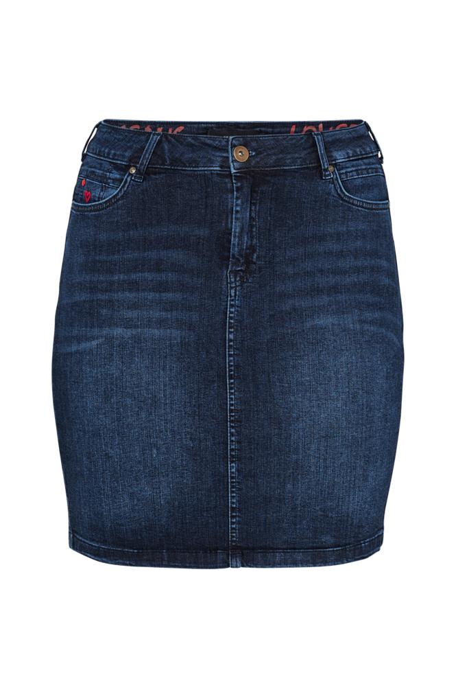 Zizzi Joma Knee Lenght Skirt -farkkuhame