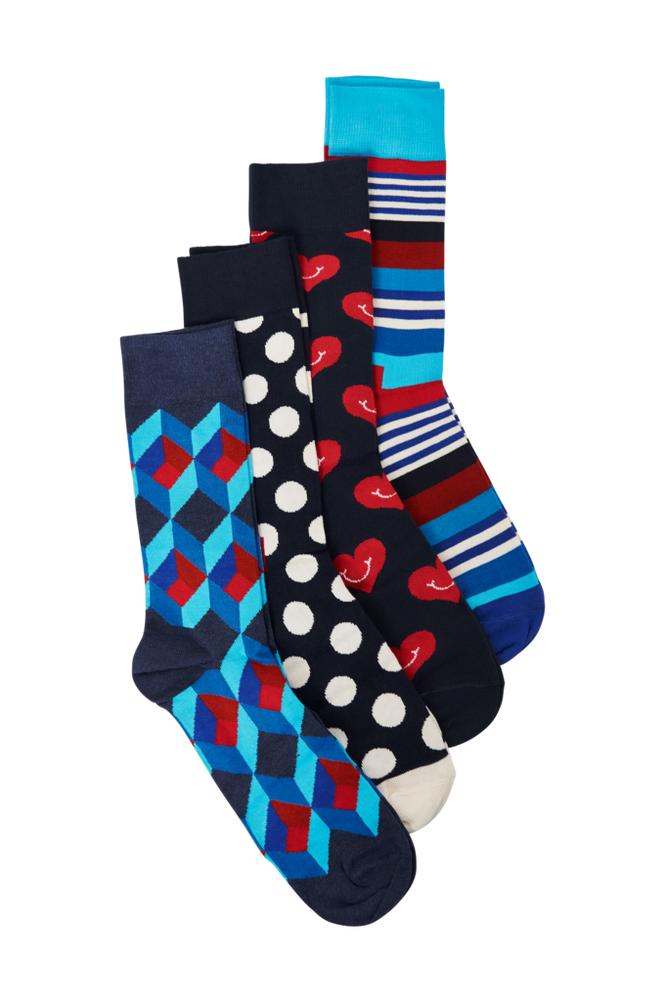 Happy Socks Nautical Gift Box -sukkalahjapakkaus, 4 paria
