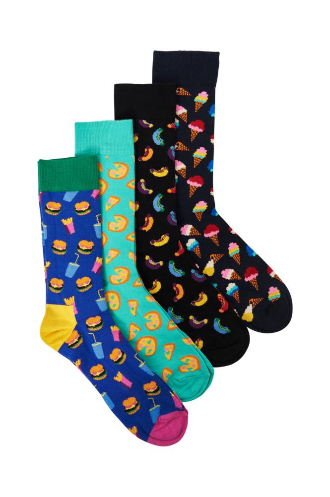 Happy Socks Junk Food Gift Box -sukkalahjapakkaus, 4 paria