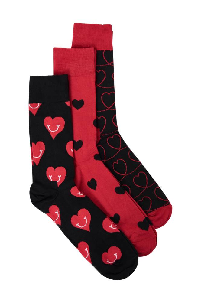 Happy Socks I Love You Gift Box -sukkalahjapakkaus, 3 paria