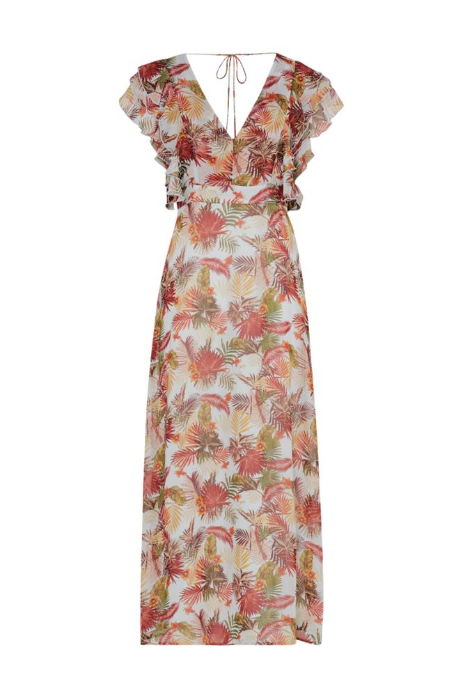 Image of Only Maksimekko onqCorrie S/L Ruffle Maxi Dress