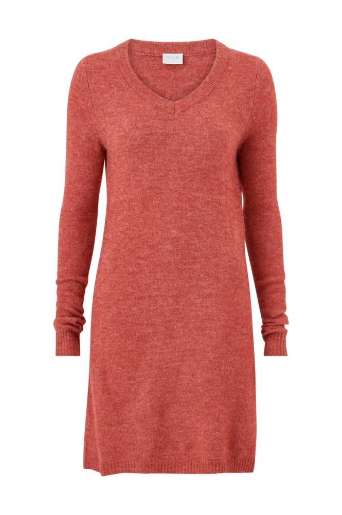 Image of Vila Mekko viVikka L/S Knit V-neck Dress