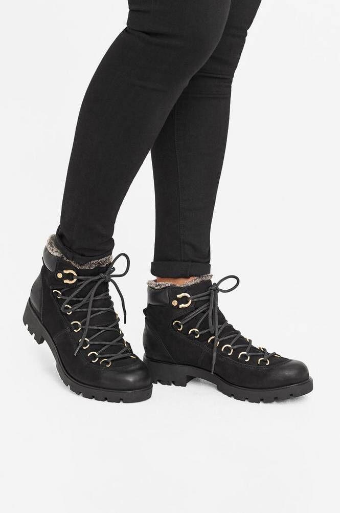 Agnes Cecilia Alma Lace Up -kengät, mustat