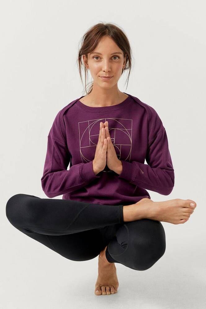 Sense of Karma Collegepusero Yoga Crewneck BR FL