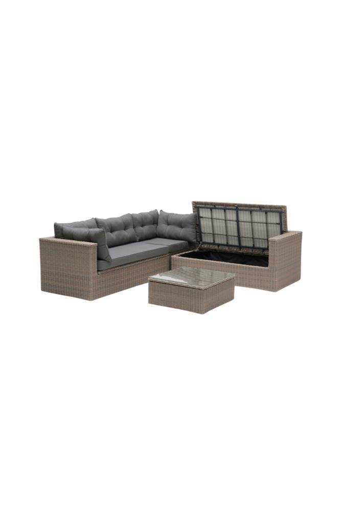 Hillerstorp MAITLAND Lounge -kulmasohva ja pöytä
