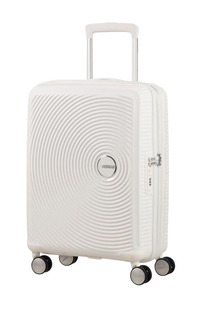 American Tourister Soundbox Spinner 55 Valkoinen