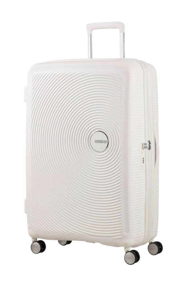 American Tourister Soundbox Spinner 77 Valkoinen