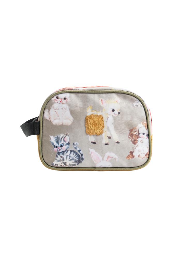 Pick & Pack Toiletcase cute animals taupe