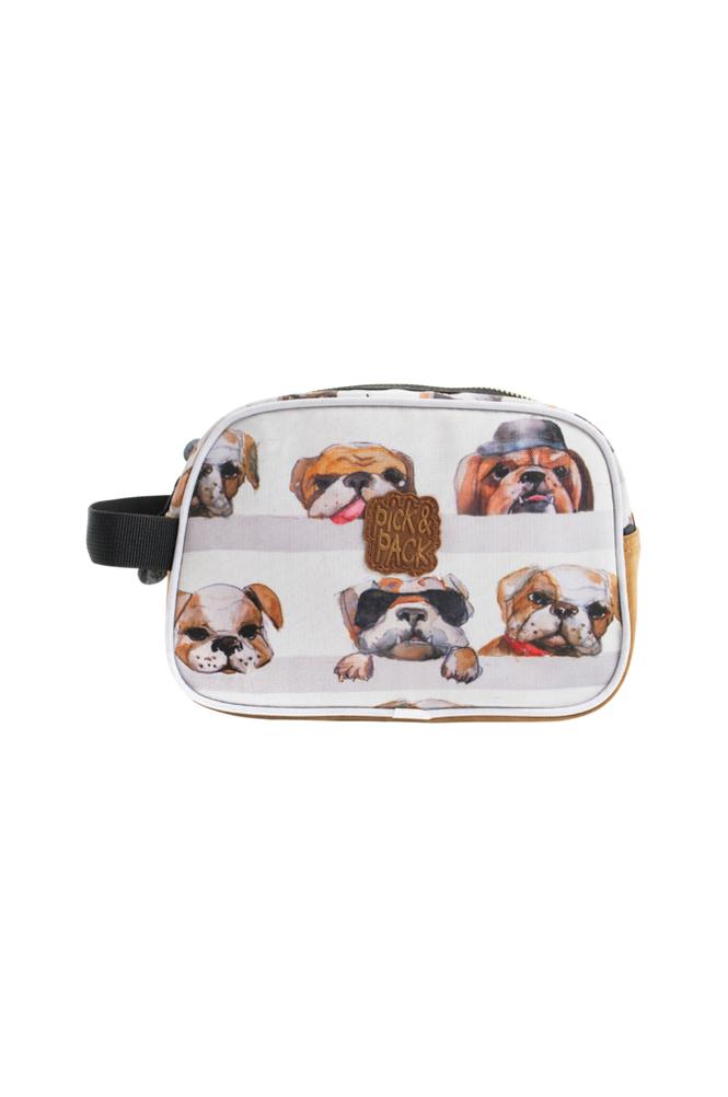 Pick & Pack Toiletcase dogs white