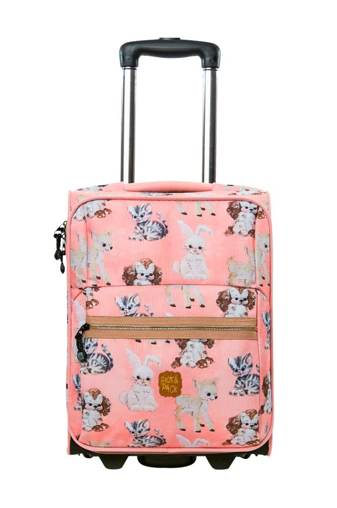 Pick & Pack Trolley Cute animals pink