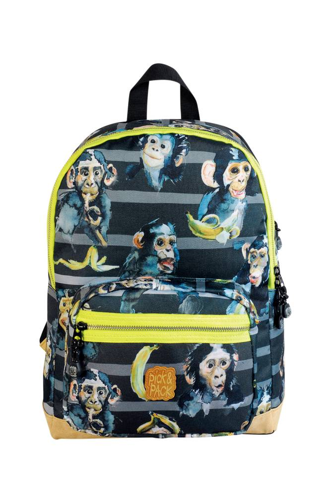 Pick & Pack Backpack chimpanzee black
