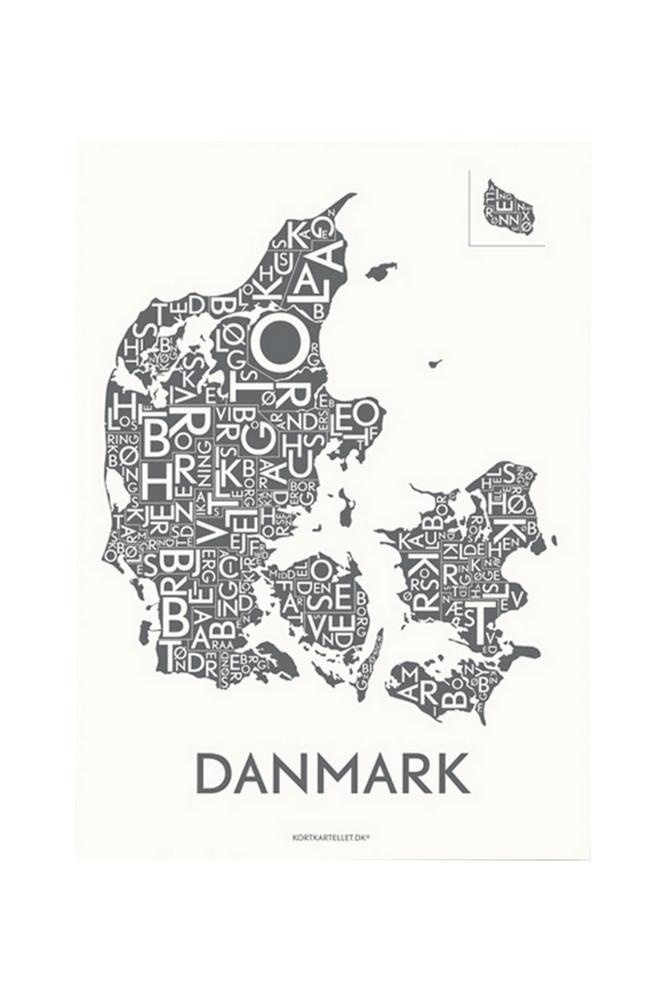 Kortkartellet Tanska juliste 50x70 cm