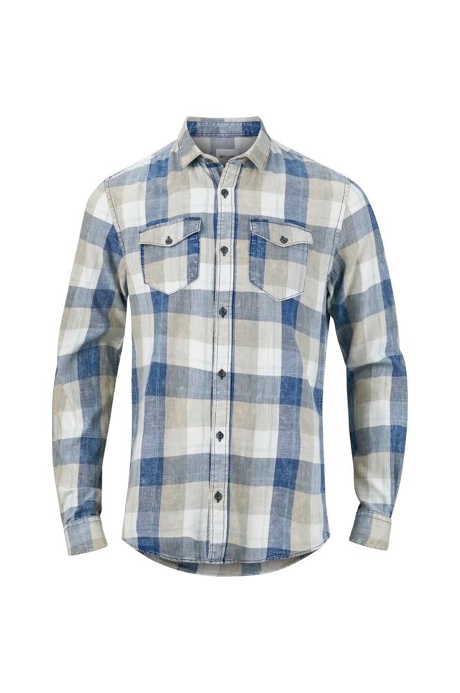 ONLY & SONS OnsCozy Reg LS Washed Check Shirt -kauluspaita