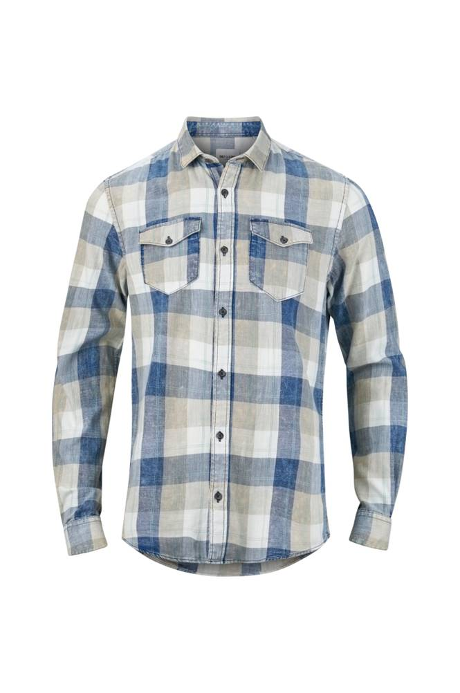 ONLY & SONS OnsCozy Reg LS Washed Check Shirt -kauluspaita