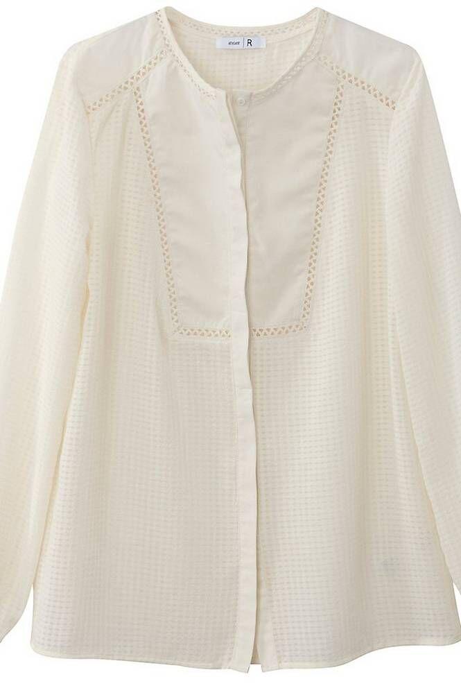 La Redoute Pilkullinen paita, pyöreä pääntie