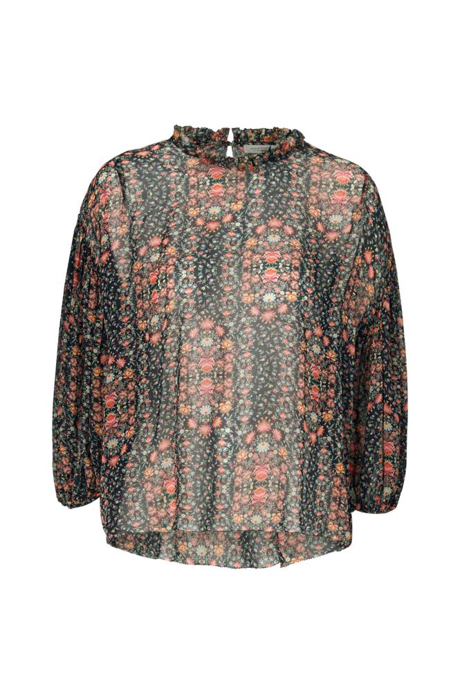 Hunkydory Floral Pleat Blouse -pusero