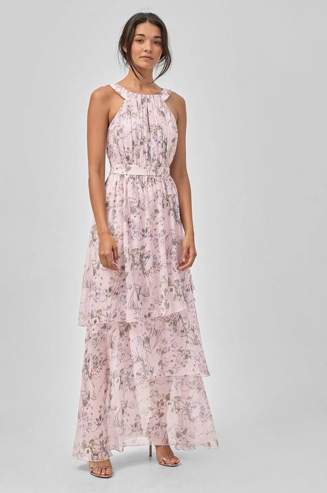 Image of Vila ViNola S/L Maxi Layer Dress maksimekko
