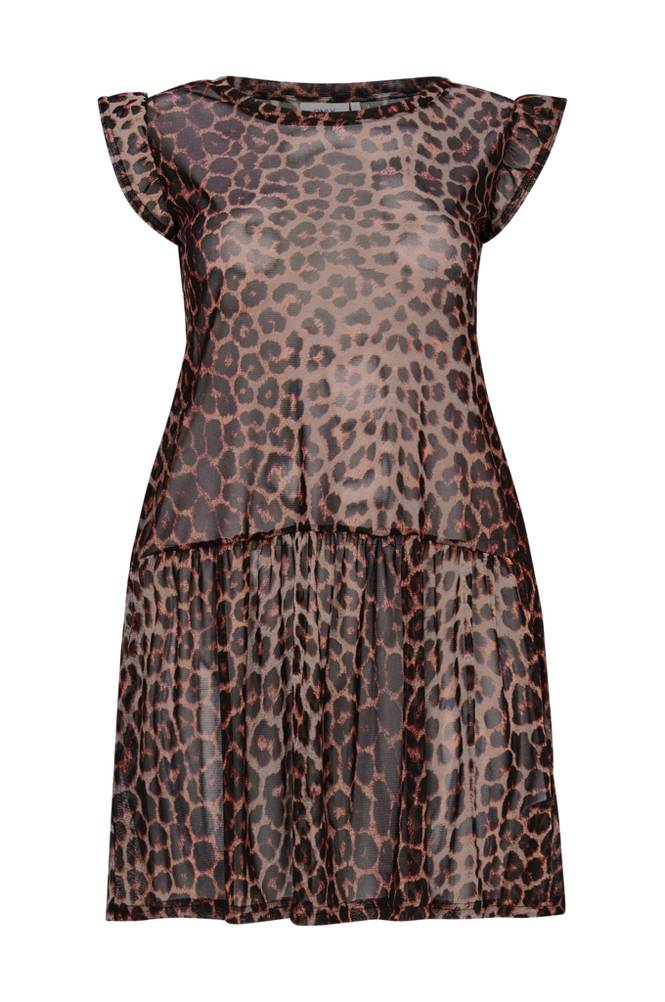 Only Carmakoma CarMesh Leopard Dress -tunika