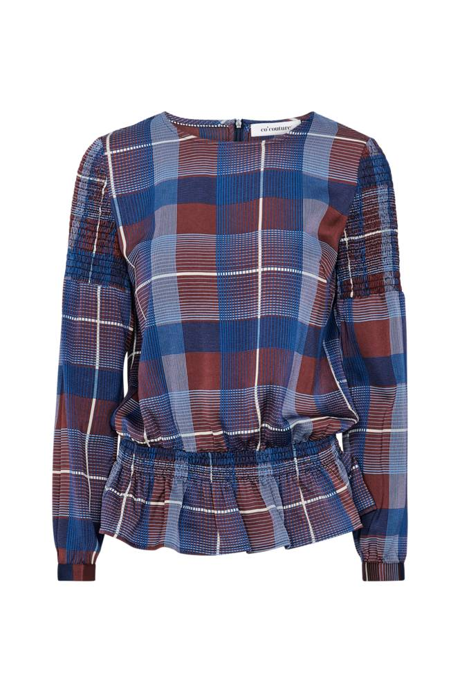 co'couture Modern Check Blouse -paita