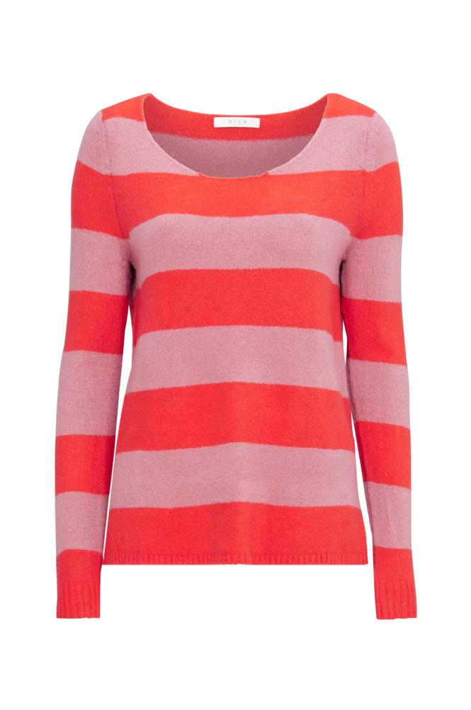 Image of Vila Neulepusero viKatay Knit New Stripe L/S Top