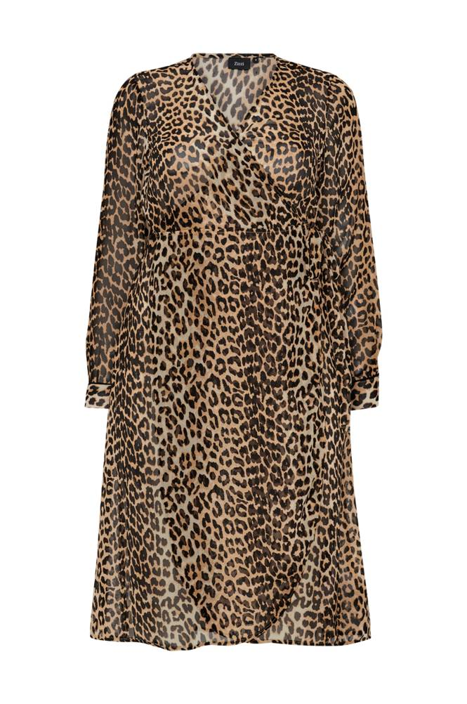 Image of Zizzi Kietaisumekko MLeofina L/S Maxi Dress