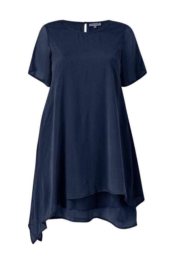 Image of Zhenzi Mekko Crepe Chiffon Dress S/S