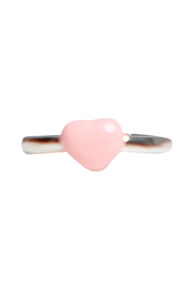 Kalas Vaaleanpunainen sydänsormus