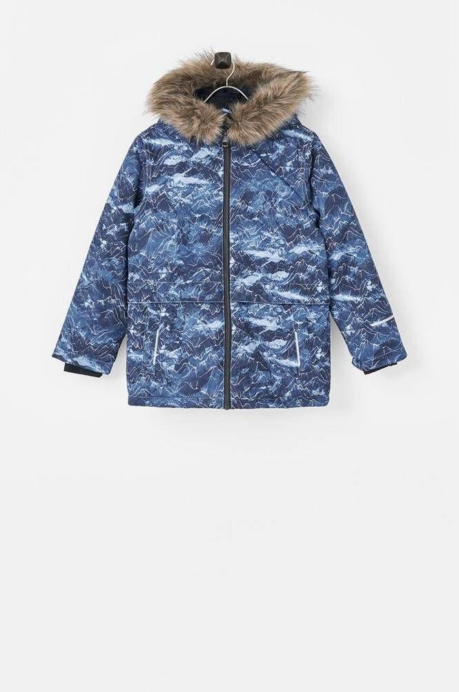 Name it nkmSnow08 Jacket AOP Mountain Fo -talvitakki